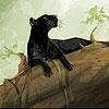 Пазл: Пантера (Black cat on the tree puzzle)