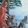 Пазл: Животные на снегу (Cute animals in snow puzzle)