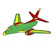 Раскраска: Самолет (Flying airplane coloring)