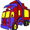 Раскраска: Грузовик (Garbage truck coloring)