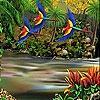 Пятнашки: Летящие попугаи (Flying parrots slide puzzle)