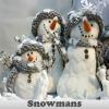 Поиск предметов: Снеговики (Snowmans. Find objects)