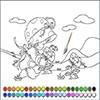 Раскраска: Девочка в саду (Small girl defloration coloring)