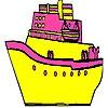 Раскраска: Корабль (Fast and big  ship coloring)