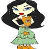 Раскраска: Звезда (Star skirt coloring)