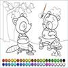 Раскраска: Мишка и лиса (Winnie the fox coloring)