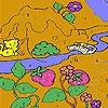 Раскраска: Котик-Рыболов (Fishing cat in the woods coloring)