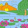 Раскраска: Лотос (Lotus garden coloring)