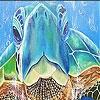Пятнашки: Морская черепаха (Blue sea turtle  slide puzzle)