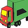 Раскраска: Грузовик (Green  big truck coloring)