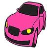 Раскраска: Авто (Pink classic car coloring)
