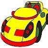 Раскраска: Желтый авто (Yellow rotund car coloring)