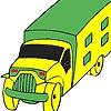 Раскраска: Грузовик (Transport car coloring)