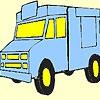 Раскраска: Продуктовый грузовик (Big grocery car coloring)
