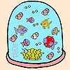 Раскраска: Рыбки (Colorful fishes coloring)