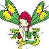Раскраска: Фея в саду (Green winged fairy coloring)