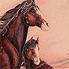Пятнашки: Лошадки (Winter horses slide puzzle)