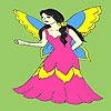 Раскраска: Маленькая фея (Little fantastic fairy coloring)