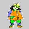 Раскраска: Ленивая девочка (Lazy fat  girl coloring)
