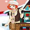 Одевалка: Снежная зима (Winter dejected girl dress up)
