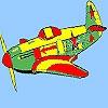 Раскраска: Самолет (Star plane coloring)