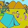 Раскраска: На природе (Camping two friends coloring)