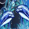 Пятнашки: Братья дельфины (Dolphin brothers slide puzzle)