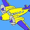 Раскраска: Самолет (High flying  plane coloring)