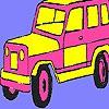 Раскраска: Горный джип (Pink mountain jeep coloring)