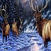 Поиск чисел: Олени на снегу (Snow and deers hidden numbers)