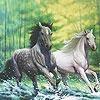 Пазл: Потрясающие лошади (Fabulous running horses puzzle)