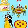 Раскраска: Танец на день Св.Валентина (Valentine's Day dance coloring)