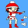Раскраска: Дженни (Valentine birds and jenny coloring)