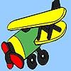Раскраска: Самолет (Old western plane coloring)