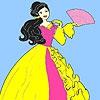 Раскраска: Веселая девушка (Valentine day prom girl coloring)