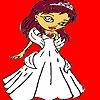 Раскраска: Невеста  в день Св.Валентина (Valentine day bride coloring)