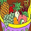 Раскраска: Фруктовая корзина (Fruits in a basket coloring)