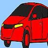 Раскраска: Семейный автомобиль (Classic family car coloring)