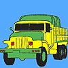 Раскраска: Зеленый грузовик (Military green trucks coloring)
