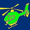 Раскраска: Вертолет (High turbo helicopter coloring)