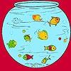 Раскраска: Маленькие рыбки в аквариуме (Little fishes in the aquarium coloring)
