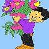 Раскраска: Флорист (Florist boy coloring)