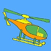 Раскраска: Вертолет (Short distance helicopter coloring)