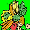 Раскраска: Овощи (Colorful garden vegetables coloring)