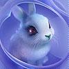 Пятнашки: Милый кролик (Blue pretty rabbit slide puzzle)