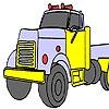 Раскраска: Грузовик (Gas truck coloring)