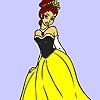 Раскраска: Принцесса (Princess shy coloring)