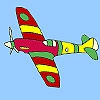 Раскраска: Самолет (Galaxy airplane coloring)