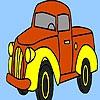 Раскраска: Трактор (Village truck coloring)