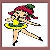 Раскраска: Маленькая балерина (Little ballerina coloring)